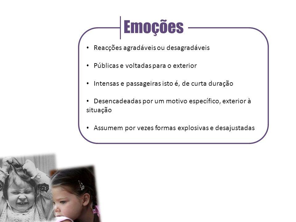 Emoções Reacções agradáveis ou desagradáveis