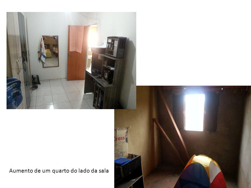 Aumento de um quarto do lado da sala