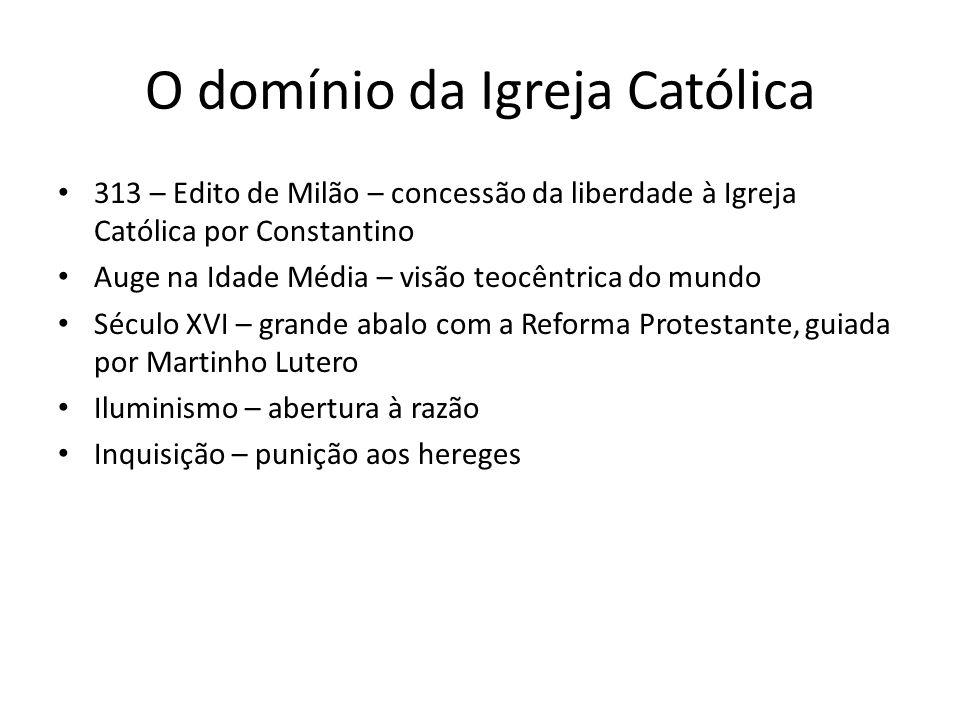 O domínio da Igreja Católica