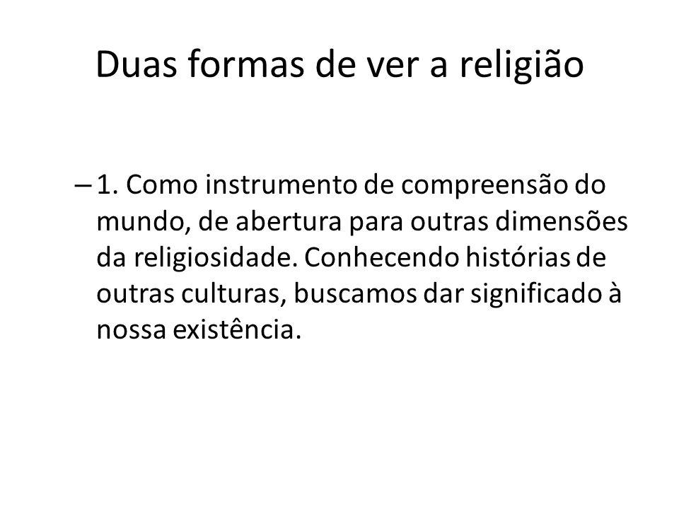 Duas formas de ver a religião