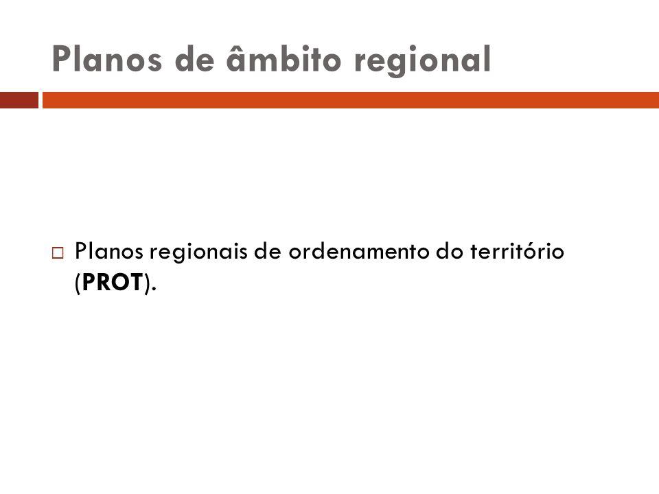Planos de âmbito regional