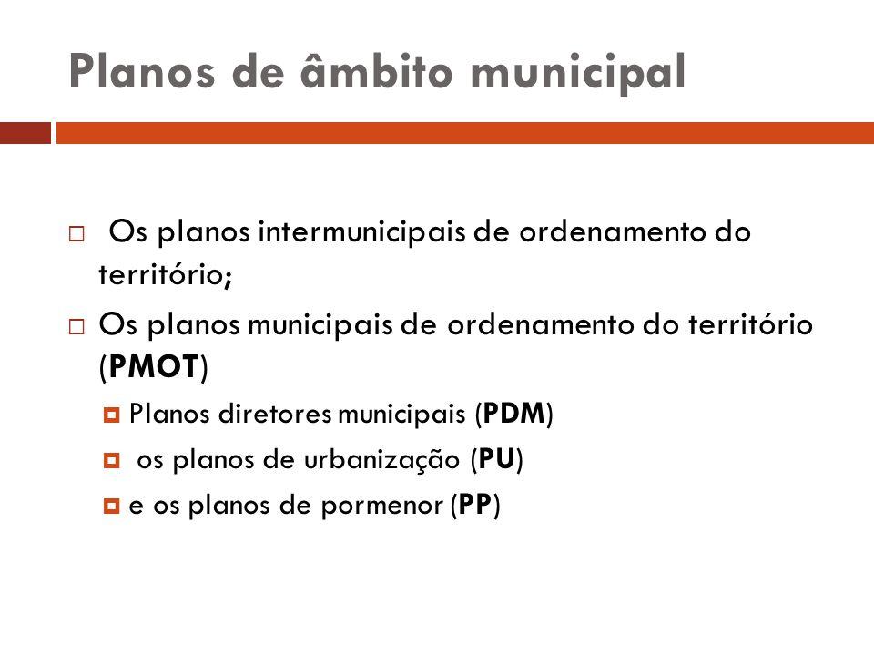 Planos de âmbito municipal