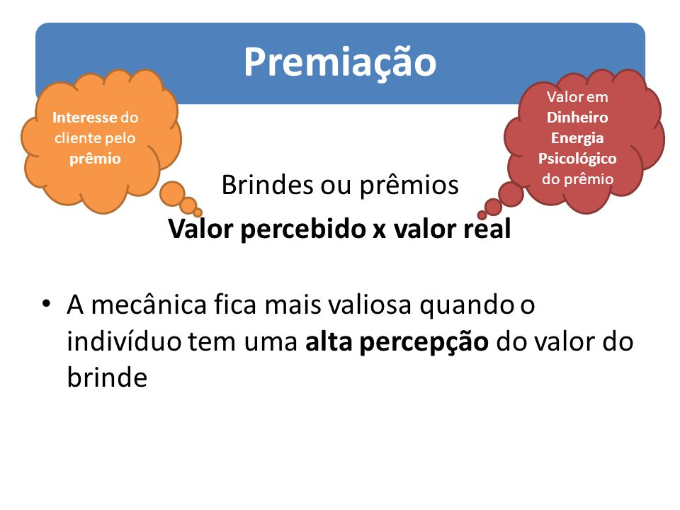 Valor percebido x valor real