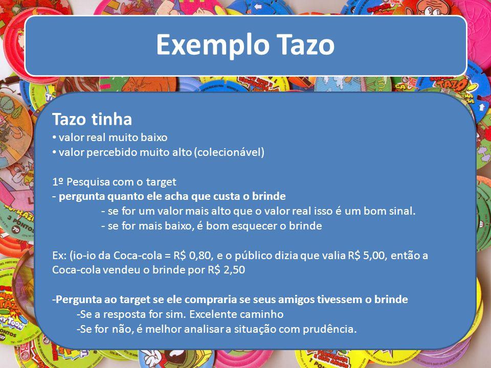 Tazo tinha valor real muito baixo