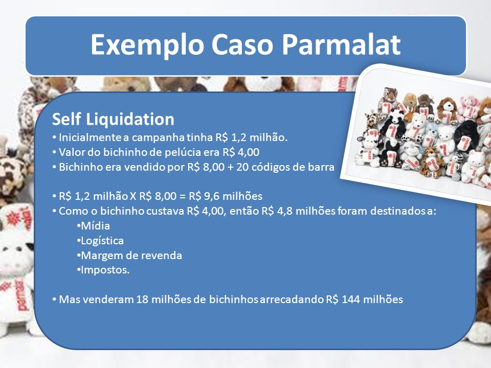 Self Liquidation Inicialmente a campanha tinha R$ 1,2 milhão.