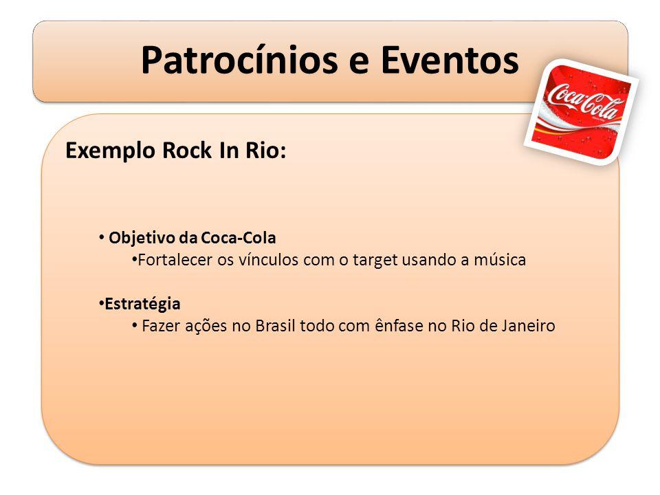 Exemplo Rock In Rio: Objetivo da Coca-Cola