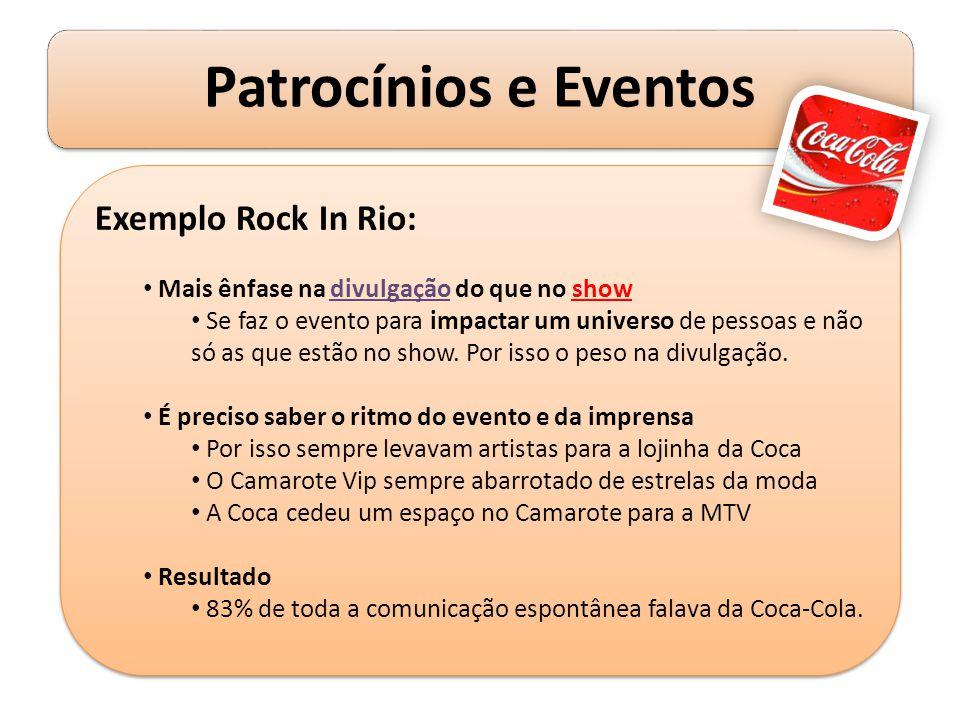 Exemplo Rock In Rio: Mais ênfase na divulgação do que no show