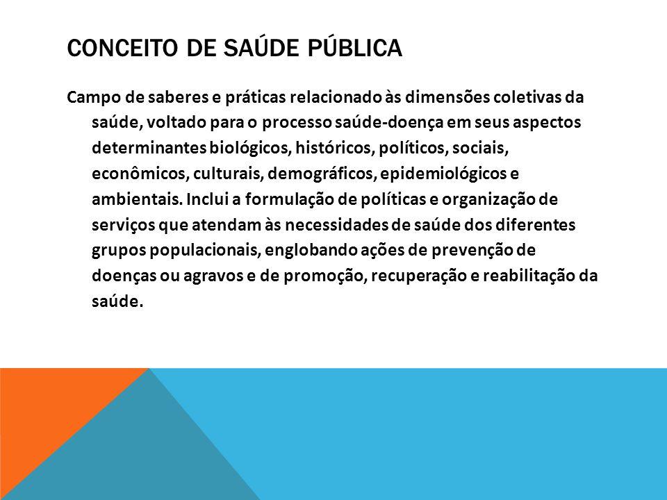 Conceito de saúde pública