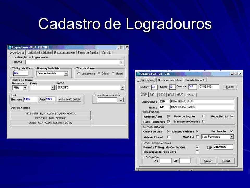 Cadastro de Logradouros