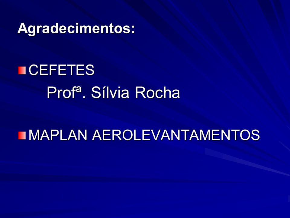 Agradecimentos: CEFETES Profª. Sílvia Rocha MAPLAN AEROLEVANTAMENTOS