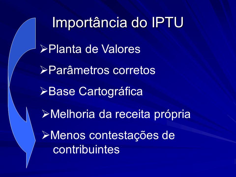 Importância do IPTU Planta de Valores Parâmetros corretos