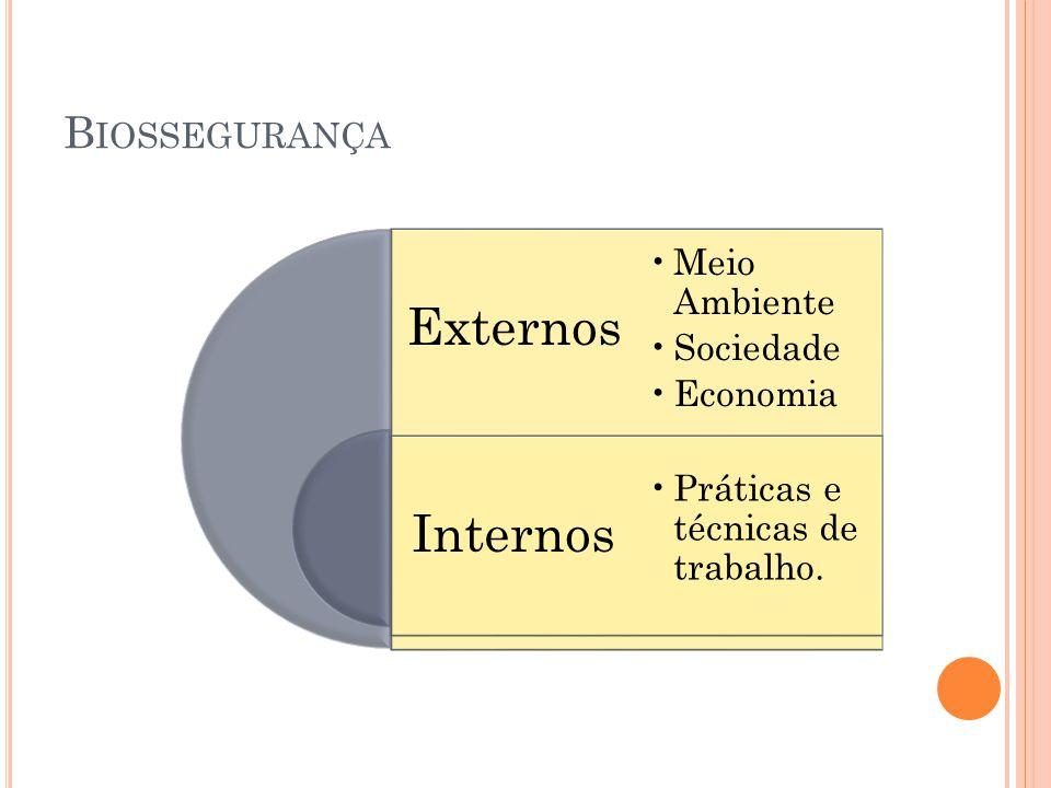 Externos Internos Biossegurança Meio Ambiente Sociedade Economia