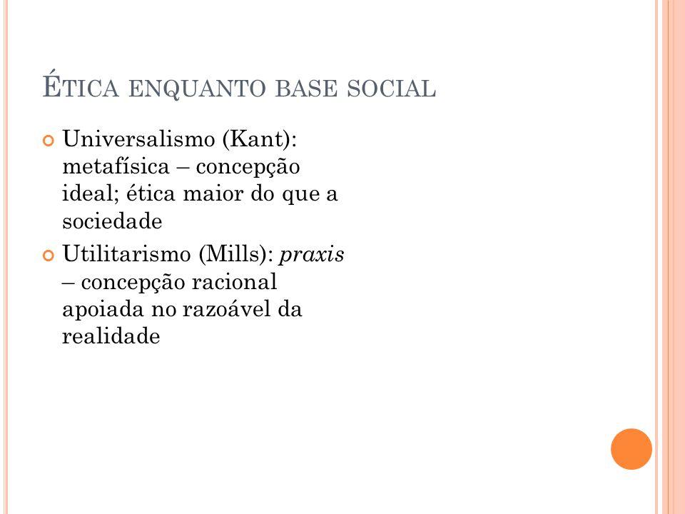 Ética enquanto base social