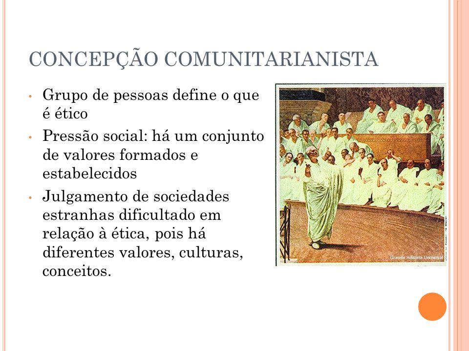 CONCEPÇÃO COMUNITARIANISTA
