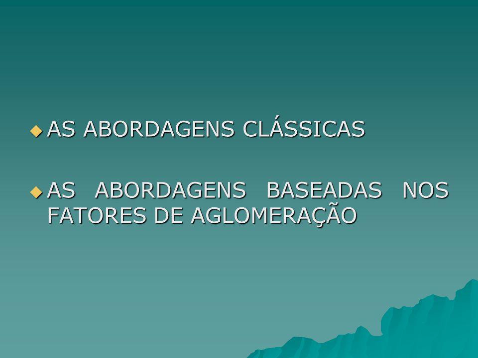 AS ABORDAGENS CLÁSSICAS