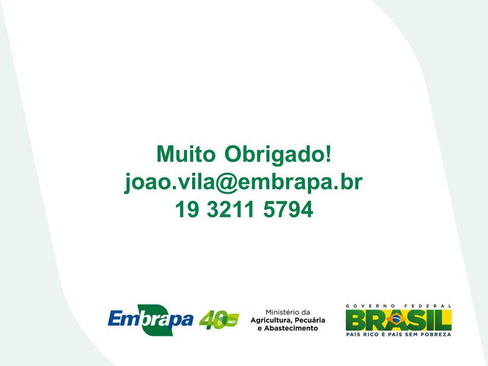 Muito Obrigado! joao.vila@embrapa.br