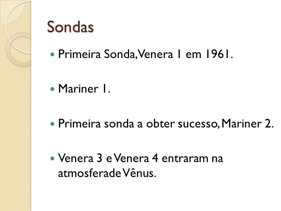 Sondas Primeira Sonda, Venera 1 em 1961. Mariner 1.