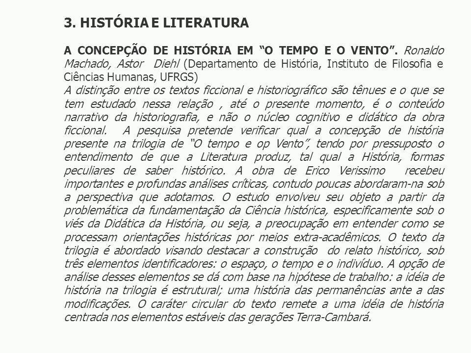 3. HISTÓRIA E LITERATURA