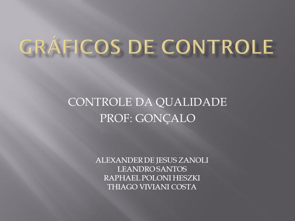 CONTROLE DA QUALIDADE PROF: GONÇALO