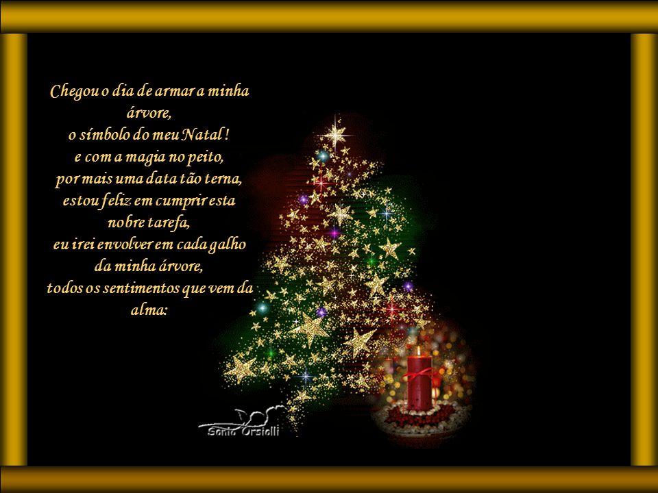 Chegou o dia de armar a minha árvore, o símbolo do meu Natal !