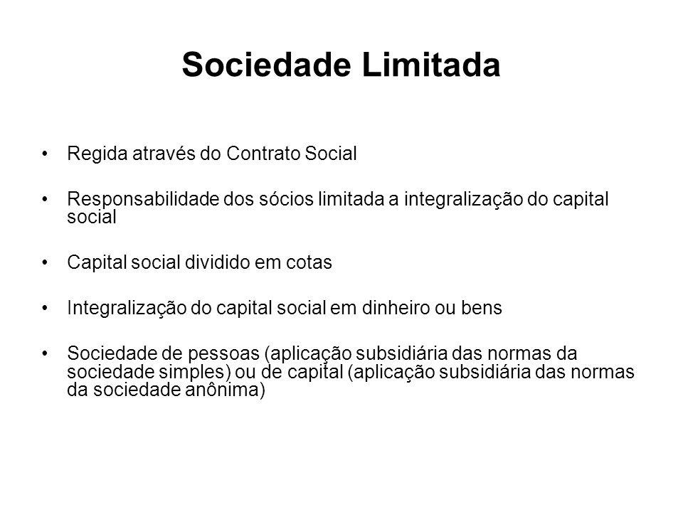 Sociedade Limitada Regida através do Contrato Social