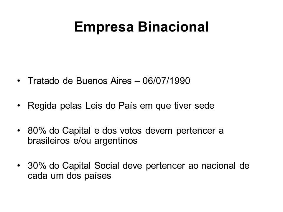 Empresa Binacional Tratado de Buenos Aires – 06/07/1990