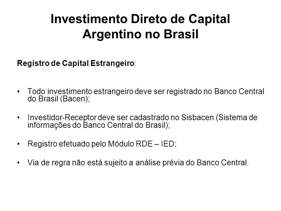 Investimento Direto de Capital Argentino no Brasil
