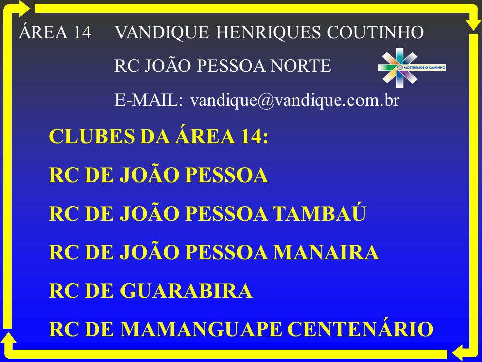 RC DE JOÃO PESSOA TAMBAÚ RC DE JOÃO PESSOA MANAIRA RC DE GUARABIRA