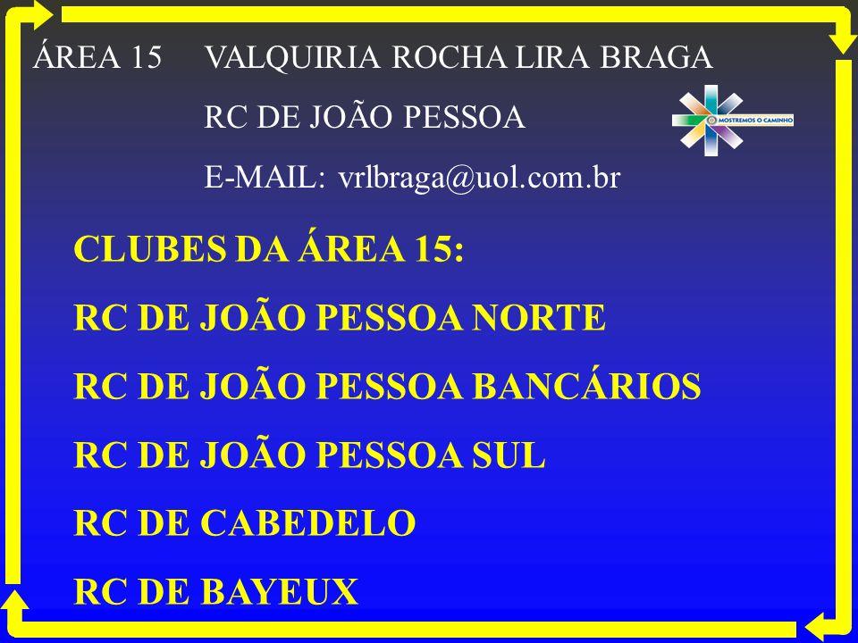 RC DE JOÃO PESSOA BANCÁRIOS RC DE JOÃO PESSOA SUL RC DE CABEDELO