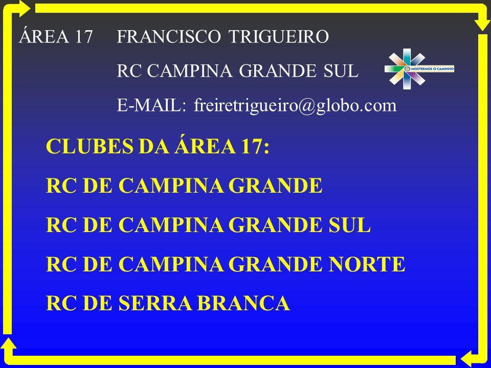 RC DE CAMPINA GRANDE SUL RC DE CAMPINA GRANDE NORTE RC DE SERRA BRANCA