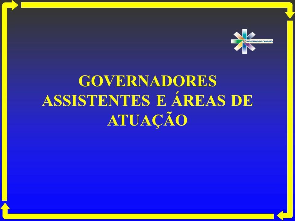 GOVERNADORES ASSISTENTES E ÁREAS DE ATUAÇÃO