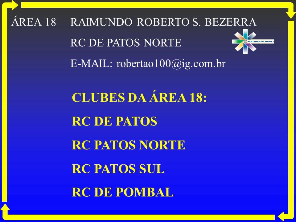 CLUBES DA ÁREA 18: RC DE PATOS RC PATOS NORTE RC PATOS SUL