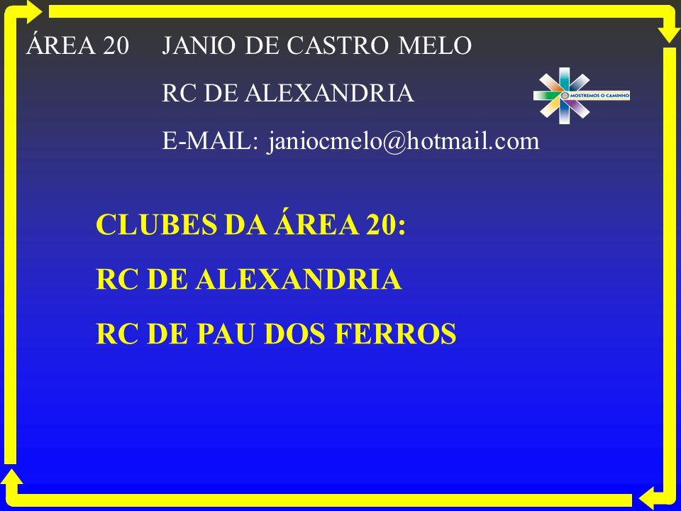 CLUBES DA ÁREA 20: RC DE ALEXANDRIA RC DE PAU DOS FERROS