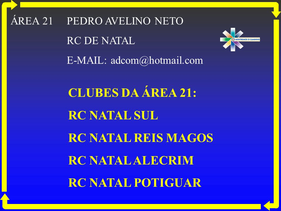 CLUBES DA ÁREA 21: RC NATAL SUL RC NATAL REIS MAGOS RC NATAL ALECRIM