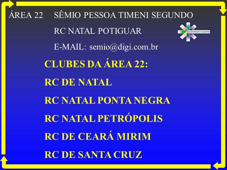 CLUBES DA ÁREA 22: RC DE NATAL RC NATAL PONTA NEGRA
