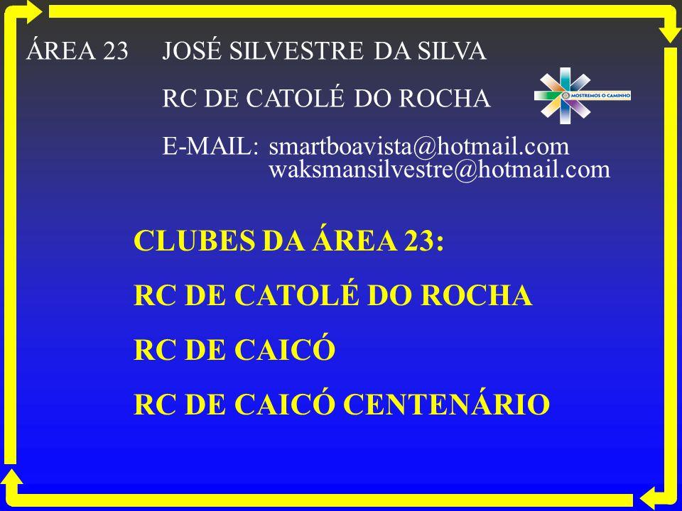 CLUBES DA ÁREA 23: RC DE CATOLÉ DO ROCHA RC DE CAICÓ