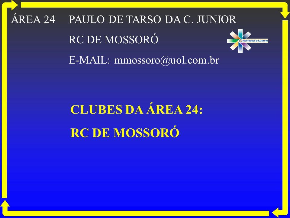 CLUBES DA ÁREA 24: RC DE MOSSORÓ ÁREA 24 PAULO DE TARSO DA C. JUNIOR