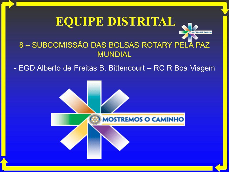 EQUIPE DISTRITAL 8 – SUBCOMISSÃO DAS BOLSAS ROTARY PELA PAZ MUNDIAL