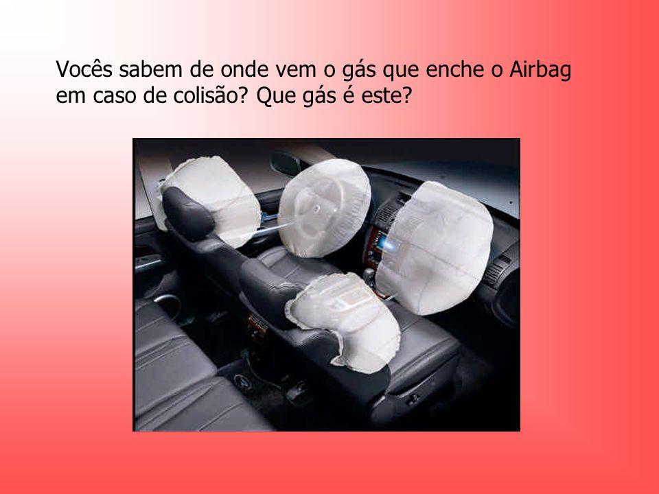 Vocês sabem de onde vem o gás que enche o Airbag em caso de colisão