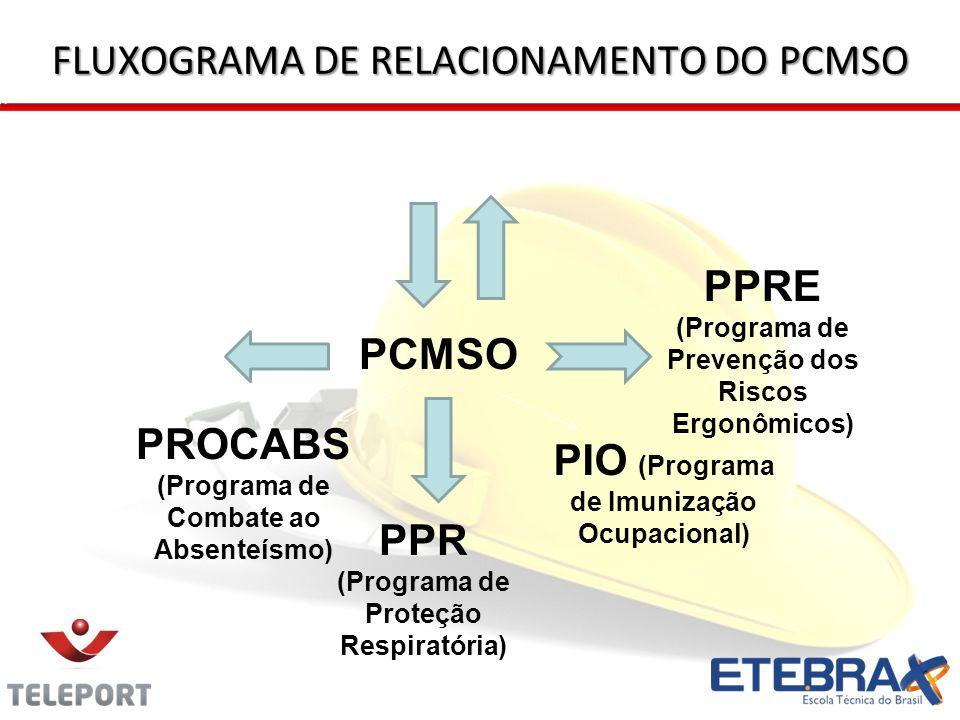 FLUXOGRAMA DE RELACIONAMENTO DO PCMSO
