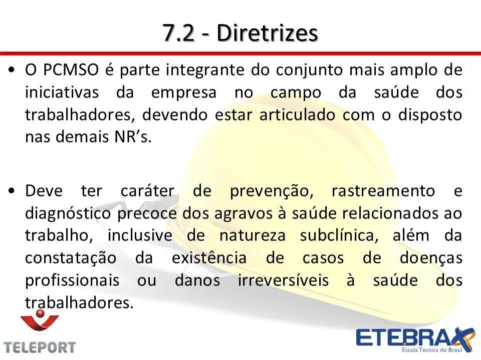 7.2 - Diretrizes