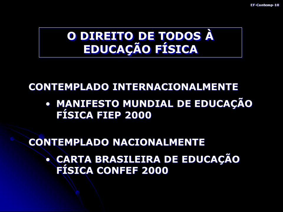 O DIREITO DE TODOS À EDUCAÇÃO FÍSICA