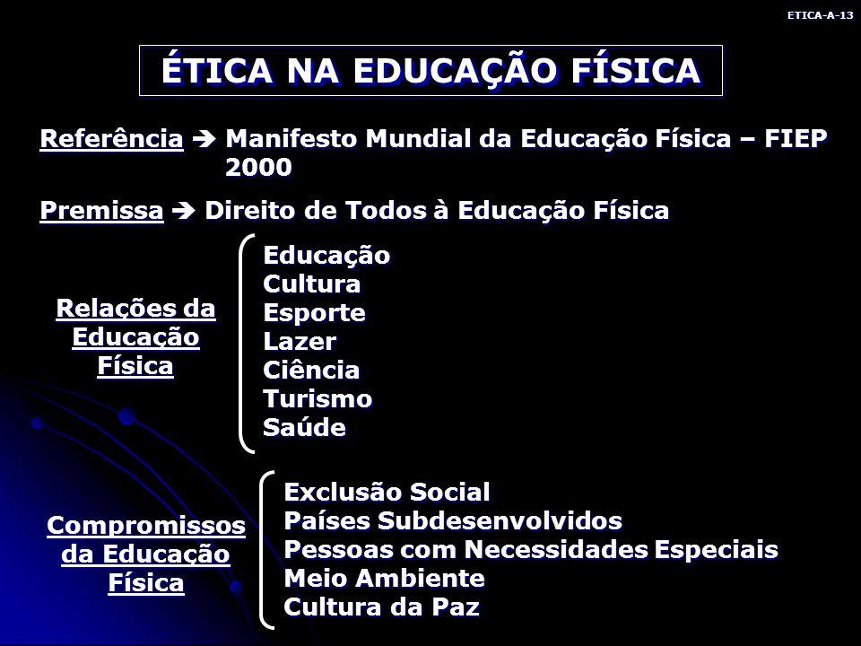 ÉTICA NA EDUCAÇÃO FÍSICA