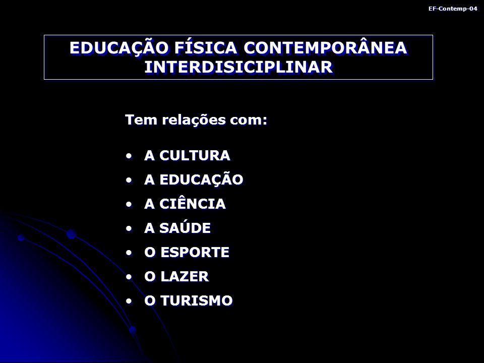 EDUCAÇÃO FÍSICA CONTEMPORÂNEA INTERDISICIPLINAR