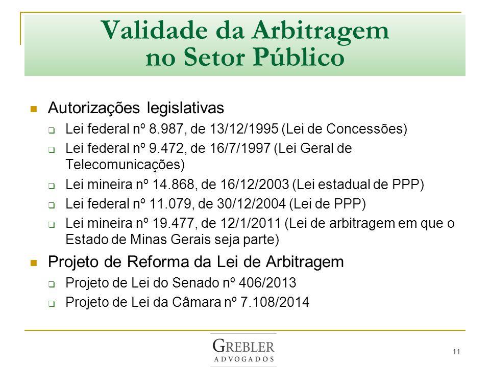Validade da Arbitragem no Setor Público