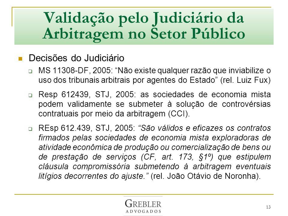 Validação pelo Judiciário da Arbitragem no Setor Público