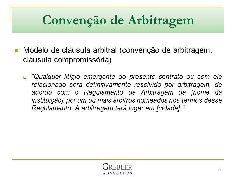 Convenção de Arbitragem
