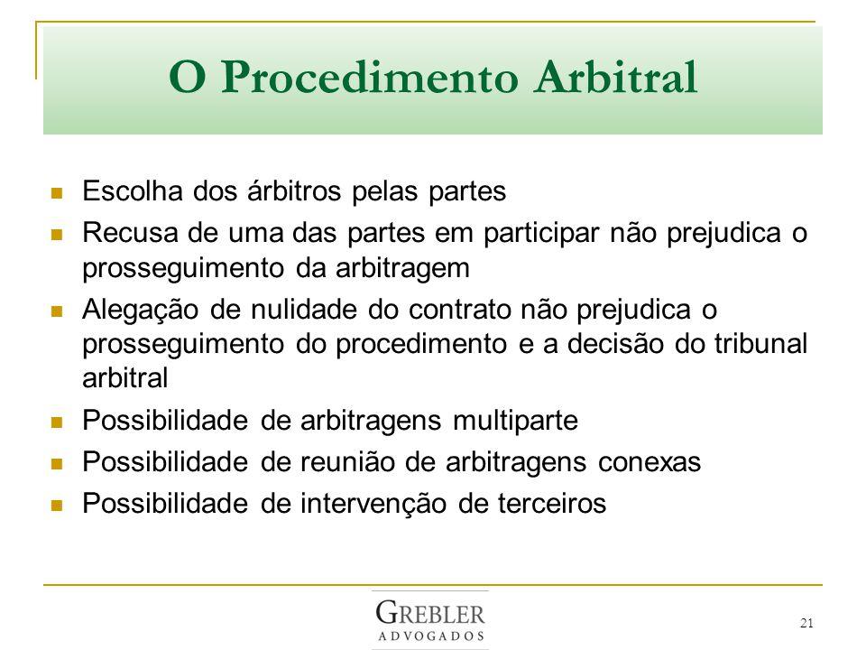 O Procedimento Arbitral