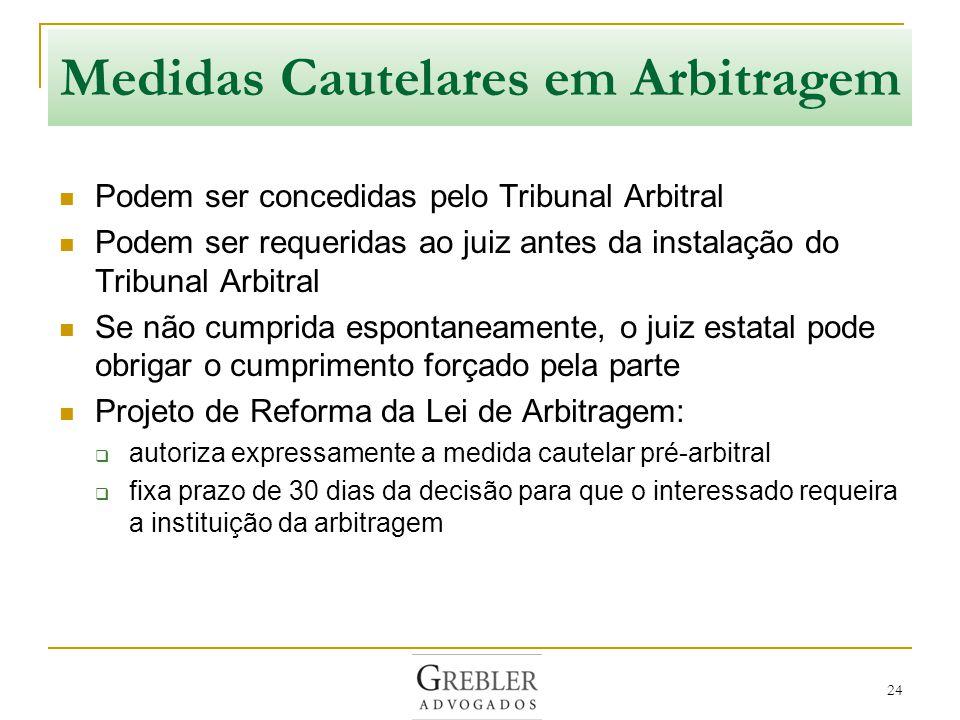 Medidas Cautelares em Arbitragem