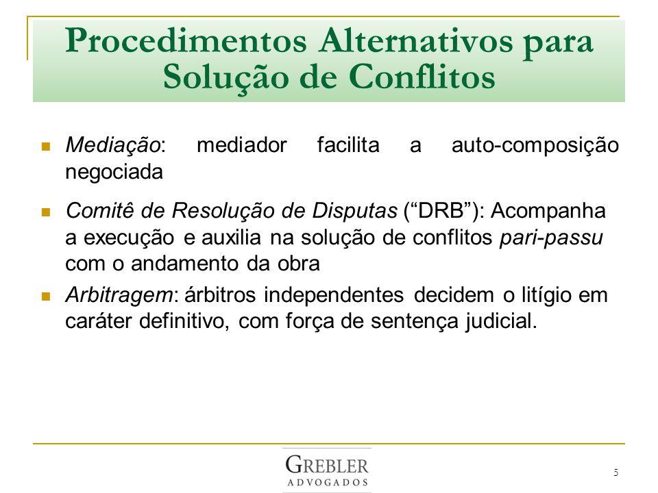 Procedimentos Alternativos para Solução de Conflitos